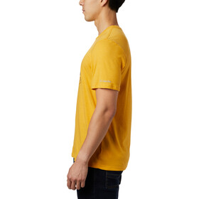 Columbia Bluff Mesa Graphic T-Shirt Homme, bright gold csc wireframe